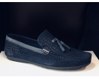 Men leather moccassins